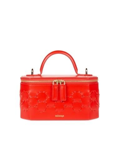 Mianqa Hakiki Deri Çanta Kırmızı